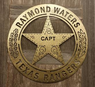 Texas Ranger Badge Silhouette